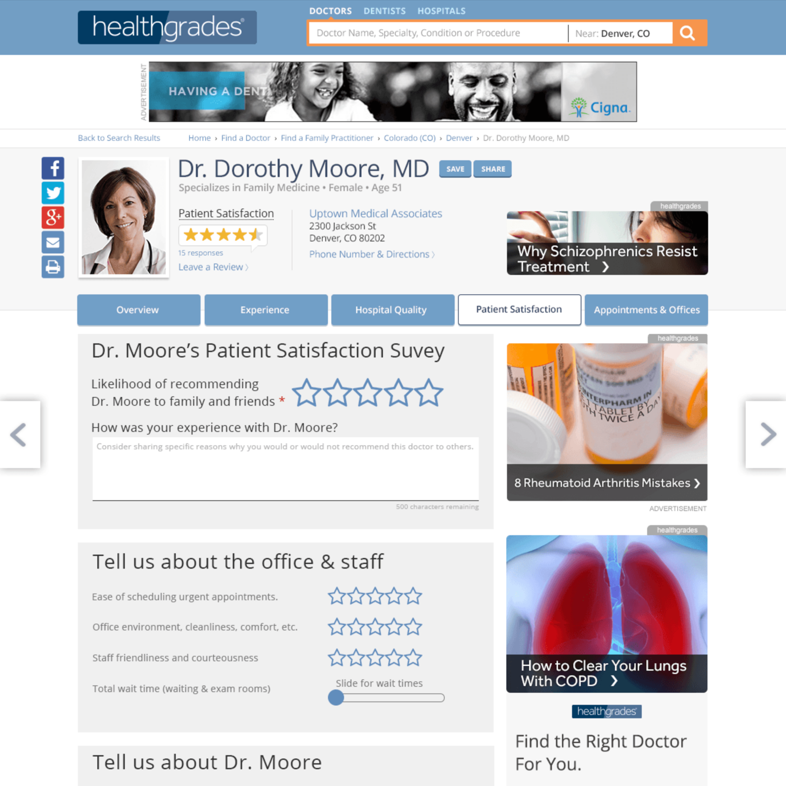 Open Comments – Healthgrades